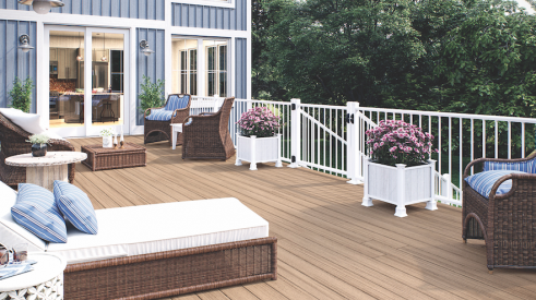 Deckorators Heritage line of composite decking now offers the Ciderhouse color