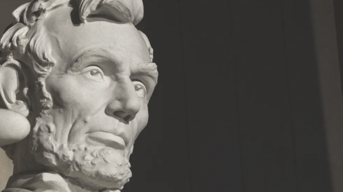statue of Abraham Lincoln, one of the greatest leaders of the United States
