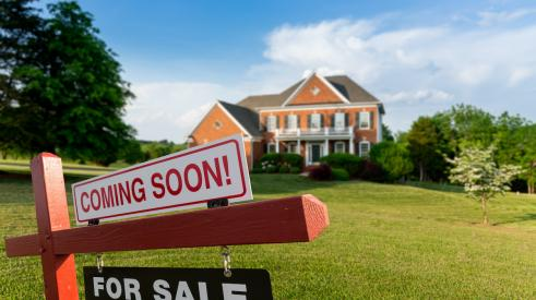 Home for sale coming soon sign