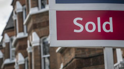 Sold home sign as the housing supply gets worse