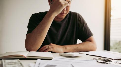 Man stressed out over payments