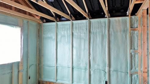 BASF insulation installed in home walls