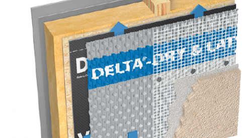 Dorken Systems_Delta-Dry & Lath 2-in-1 rainscreen_waterproofing products_building materials