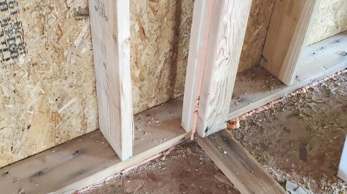 Partition wall framing for better thermal performance
