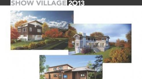 "The 2013 Show Village has a dual theme of ""design innovation and attainable sustainability."""