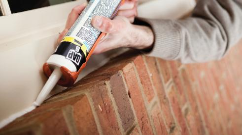 Using sealant is one way to eliminate drafts and make homes more energy efficient