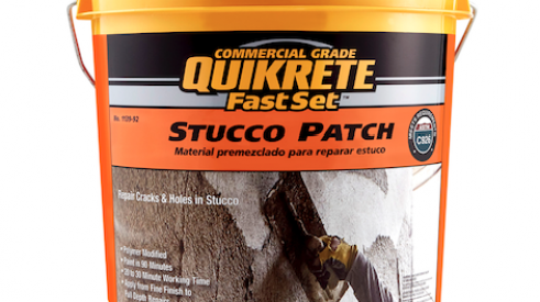 Quikrete Fast Set Stucco Patch product for stucco repair_building materials