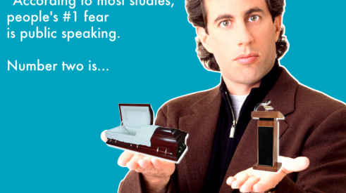 Jerry Seinfeld guesses your greatest fear: public speaking or death?