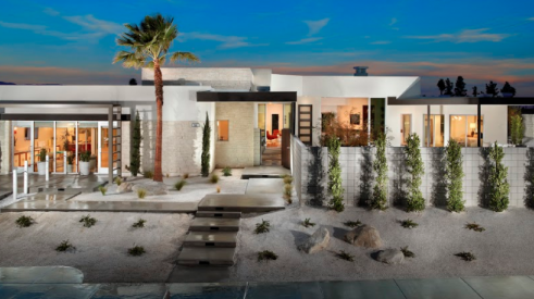 Exterior of Skye Palm Springs Plan 1 mid-century modern