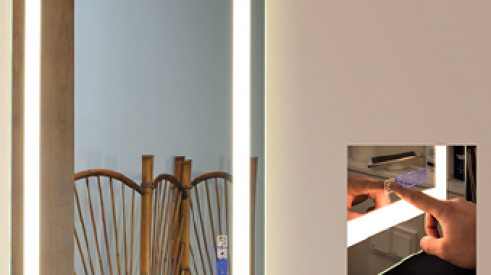 Strasser Woodenworks' Hi-tech Bluetooth Mirrors for lighting the bathroom