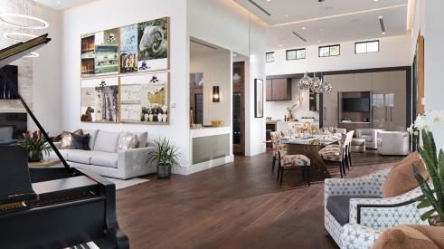 Living and dining space in The New American Home 2021