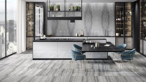 Walker Zanger's onyx-look porcelain tile