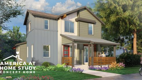 Exterior of Barnaby, the America at Home concept home