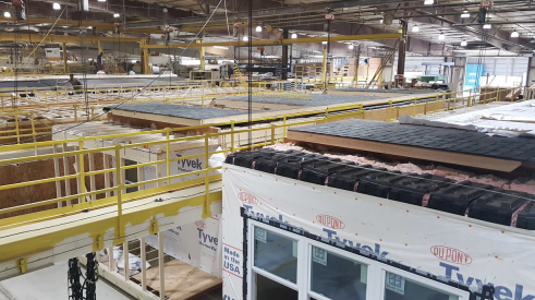 Inside a factory that builds modular homes
