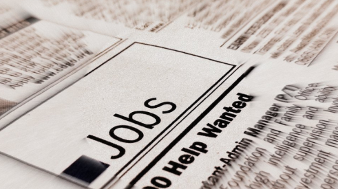 Job postings in newspaper