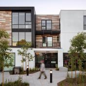 Affordable housing design at the Carson Arts Colony project, a 2020 BALA winner in Los Angeles