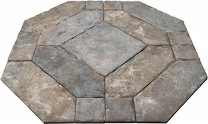 The soft coloration of rustic black marble is what characterizes Ann Sacks' Siene floor line, offering antique appeal.