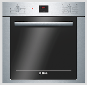 Front view of the Bosch compact oven.