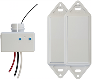 The wireless electrical switch from GoConex isn't physically attached to a structure.