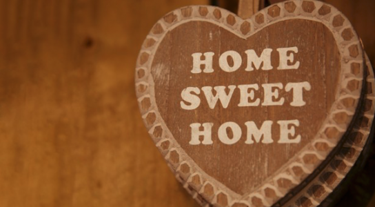 Home Sweet Home sign—Millennials moving back in with parents