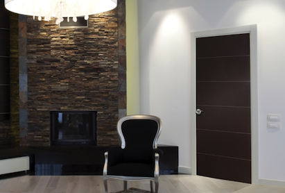 Masonite's new West End collection of interior molded doors features sharp horiz