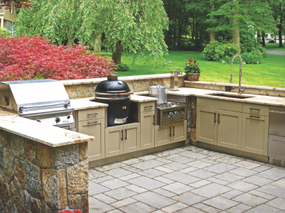 Perfect Danver Now Offers Custom Painted Color Options And Powder Coat Painted Wood  Finishes For Its Stainless Steel Indoor/outdoor Kitchens, Including Doors  And ... Nice Ideas