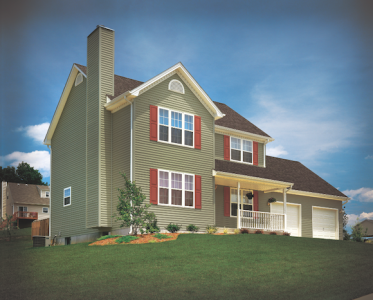 An example of a rendering created by CertainTeed's TrimIt design tool.