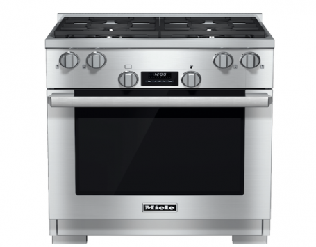 dual-fuel range in Miele's line of entry-level kitchen appliances