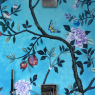 For kitchens and bathrooms, Cle has a new tile available in a Chinoiserie pattern