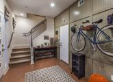 Indoor bike racks in Los Angeles in a development of three-story townhomes at Latitudes at Silverlake. Photo: Chet Frohlich Photography.)